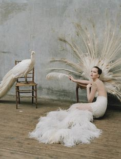 Jennifer Lawrence by Tim Walker  Dress: Prabal Gurung F/W 2012/13  W Magazine October 2012