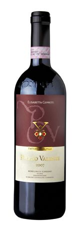 1997 Fattoria Le Pupille - Poggio Valente Morellino di Scansano.  This Sangiovese based wine does not hold much resemblance to wines from Chianti or Brunello, with much darker fruit flavors and a more velvety texture.  It has the heft to take on red meat.