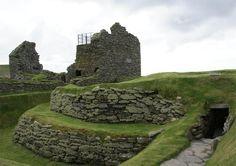 Jarlshof, Shetland, Scotland - Sumburgh House and broch