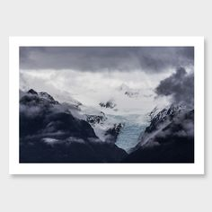 Ice Tongue – Fox Glacier Photographic Print by Mike Mackinven Click here: http://www.endemicworld.com/icetongue-fox-glacier-photographic-print-by-mike-mackinven.html