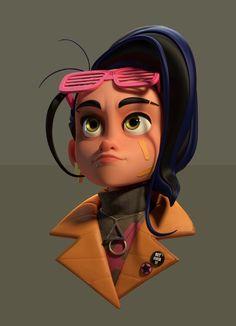 ArtStation - She is a bad ass, Selçuk Yağcı Character Design Inspiration, Character Design, Character Illustration, Character Inspiration, Character Design Animation, 3d Character, Character Modeling, Character Design References, 3d Model Character