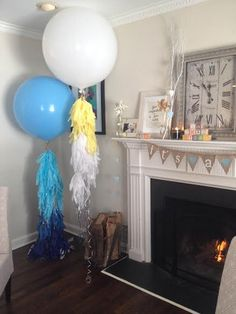 DIY Fringe Balloons - such a fun, on-trend baby shower accent!