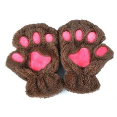 Cat Paws Fingerless Gloves