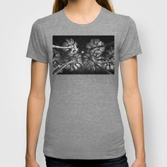 Elevated Paradise ~ Moon Shade T- Shirts #palmtrees #space #sky #stars #moon #fullmoon #nature #photography #design #perspective #elevate #elevated #night #evening #blackandwhite #monochrome #mono #shirt #tshirt #style #fashion #unisex