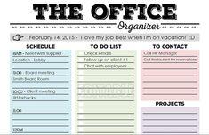 work day organizer