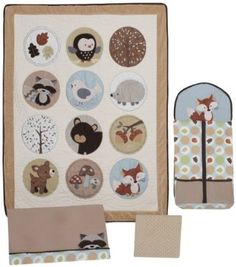 Carter's 4 Piece Crib Bedding Set, Forest Friend Baby, NewBorn, Children, Kid, Infant