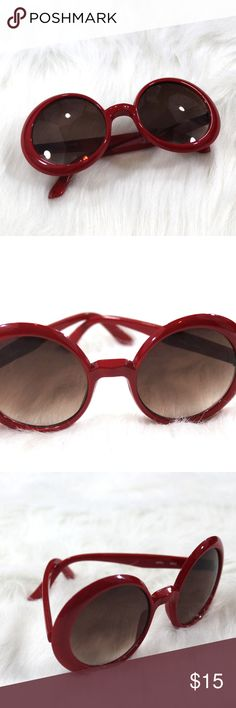 Glossy Red Oversized Sunglasses So chic!  These are classic Jackie O sunglasses but in a dramatic red! Wild Caught Accessories Sunglasses