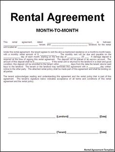 Printable Sample Rental Lease Agreement Templates Free Form  Lease Templates
