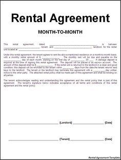 Room Rental Agreement Template | Rental agreement | Pinterest