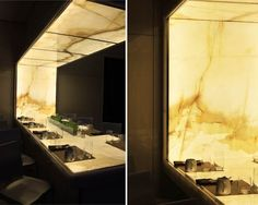 Gorgeous Onyx Backlit Table for Hotel Reception : Marvelous Onyx Backlit Design Table Feature Modern Design Ideas