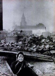 A woman who survived the Nagasaki bombing, 1945. via reddit