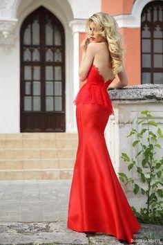Roberto Motto bridal 2015 donna strapless red wedding dress with lace peplum. Credit to: http://www.weddinginspirasi.com ✔︎SamPage