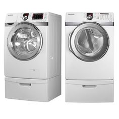 Front load washer and dryer. So need these! Best set per reviews.  Samsung WF330ANW