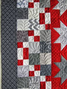 quilting on a patchwork border, Feathers: the Secret Life of Mrs. Meatloaf
