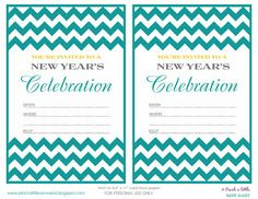 Pinch A Little Save-A-Lot: Free New Year's Eve Party Invitations & Party Planner