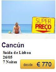 Cancún - Saída de Lisboa €770