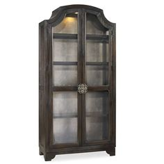 Hooker Furniture 3031-50001 Sanctuary Glass Bunching Curio in Ebony Antiqued Oak