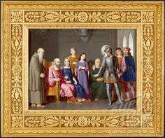 bernabo visconti in the castle of trezzo by giambattista gigola | ... Visconti in the Castle of Trezzo by Giambattista Gigola, watercolor on