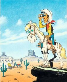 Lucky Luke Comic Books Art, Comic Art, Bd Lucky Luke, Luke Luke, Serpieri, Bilal, Looney Tunes Cartoons, Jean Giraud, Ligne Claire