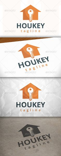 House Key Logo by BossTwinsArt Package Three color version: Color, greyscale and single color. The logo is 100 resizable. You can change text and colors very ea