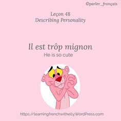 Bonjour à tous! Describing someone is something that we usually do in our daily life conversation. Right now we are going to learn how to describe someone's personality. It is very easy to un…