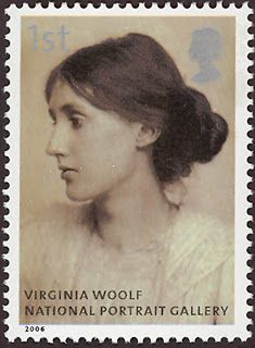 Literary Stamps: Woolf, Virginia (1882 – 1941), English writer whose works include the novels Mrs. Dalloway, To the Lighthouse, and the book-length essay A Room of One's Own.