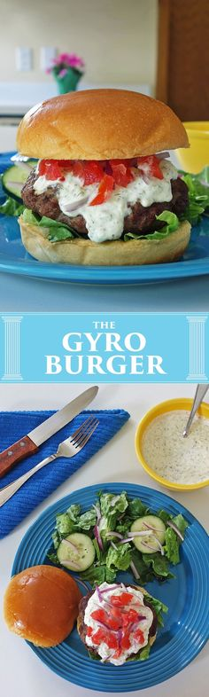 Opa! The Gyro Burger brings greek flare to the burger. We're going to make our Gyro Burger with 50/50 lamb and hamburger and top it off with tzatziki sauce.
