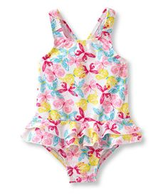 Infant and Toddler Girls' Sea Spray Swimsuit, One-Piece: Swimwear | Free Shipping at L.L.Bean