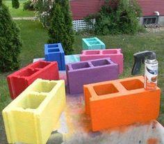 Cinder blocks are basically the new mason jar!