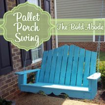 Nantucket Inspired Porch Swing Made From Reclaimed Pallets