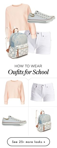 """""""School"""" by lixzm on Polyvore featuring Barbour International, Miss Selfridge, Converse and Red Camel"""