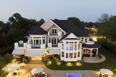 Dream House Plans, House Floor Plans, Luxury Floor Plans, Shingle Style Homes, Recessed Ceiling Lights, Luxury Flooring, Curved Staircase, Big Houses, Large Houses
