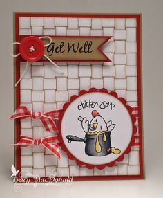 get well card by Tracy... Love the basketweaving... link to tute included