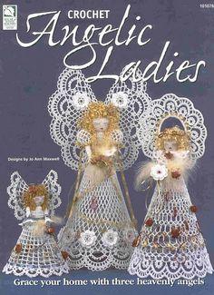 My handmade Angels crochet HWB Angelic Ladies 0 fc Christmas Angel Ornaments, Christmas Tree Decorations, Christmas Crafts, Crochet Angel Pattern, Crochet Angels, Crochet Books, Thread Crochet, Handmade Angels, Vintage Crochet Patterns