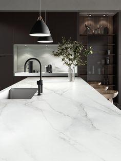 Gallery of Surfaces - Dekton® Natural Collection - 33 Luxury Kitchen Design, Kitchen Room Design, Home Decor Kitchen, Interior Design Kitchen, Kitchen Furniture, Kitchen Ideas, Kitchen Remodel, Organic Modern, Kitchen Cabinets