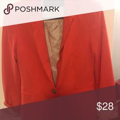 Zara Orange Blazer! Great condition- worn once! Perfect for every season and pop of color!!! Zara Other