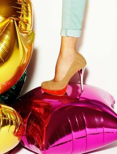 Heels + Balloons