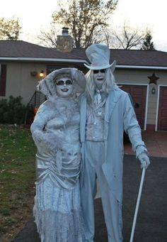 Couple in Helloween costume