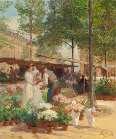 Place de la République by Victor Gabriel Gilbert (French, 1847-1935)