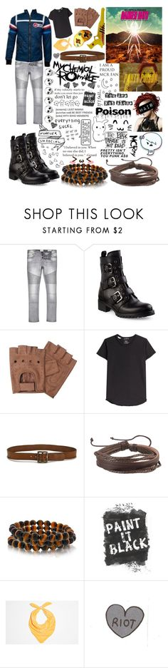 """""""Party Poison //Gerard Way Danger Days Cosplay//"""" by alice-killjoy01 ❤ liked on Polyvore featuring River Island, Prada, Alexander McQueen, Paige Denim, Zodaca and Bling Jewelry"""