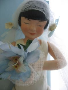 SOLD - VINTAGE Bride Doll