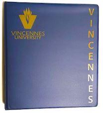 "BINDER VU 1"" NAVY   Old Post Bookstore Vincennes University, Lpn Nursing, History Museum, Textbook, Binder, Navy, Hale Navy, Trapper Keeper"