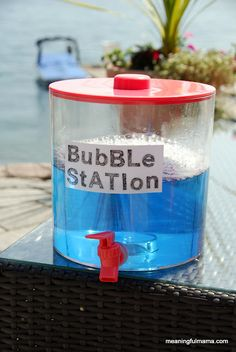 Bubble Refill Station & Homemade Bubble Recipe!!! --My son can never get enough bubbles but we run out so frequently. This is a good way to keep him happy for a loooong time! (-;
