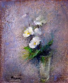 Elvi Maarni - still life Finnish, 1907 - 2006 Soft Colors, Colours, Light Of Life, Cool Artwork, Flower Art, Surrealism, Still Life, Plants, Pastel Paintings