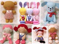 Rag Doll & Softie Patterns to Sew Soft Toys & Animals