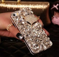 Fashion lady Handmade Bling Fox Crystal Diamond Back Cover Case For iPhone 5 5S SE 6 6S Plus Note 3 4 5 S5 S6 S7 Edge Rhinestone Phone Cover