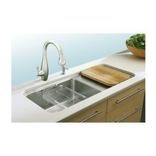 "View the Kohler K-3592 Prologue 42"" Single Basin Under-Mount 18-Gauge Stainless Steel Kitchen Sink with SilentShield at FaucetDirect.com."