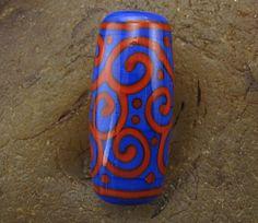 Handmade Lampwork Glass Focal Bead Scrolls by by PowersArtStudio, $18.00