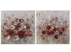 Cuadros decoración - Set flores blanco/rojo Shop, Home Decor, White People, Flowers, Homemade Home Decor, Decoration Home, Store, Interior Decorating