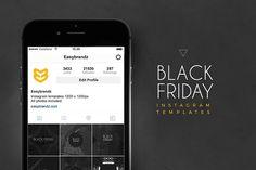 Instagram Black Friday Templates by Easybrandz on @creativemarket
